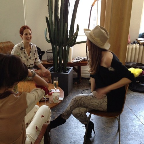 officialstyledotcom:  The girls having a good time @equipment_fr project with @garancedore. ML (Taken with Instagram)