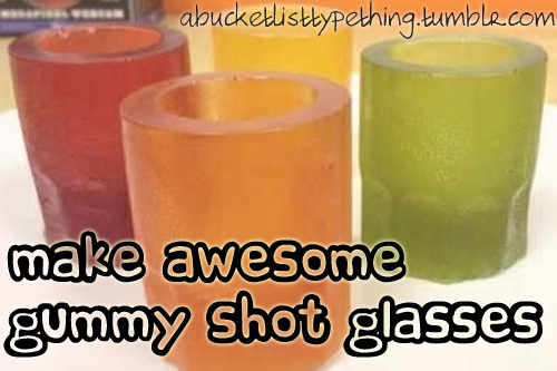 Instructions - How to make gummy shot glasses!