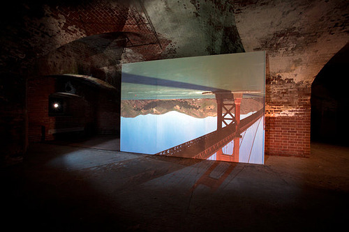 "wmanthony:  nevver:  Vertigo  ""… a working camera obscura set up inside Fort Point."" Read more: http://www.sfgate.com/cgi-bin/article.cgi?f=/c/a/2012/05/17/PKRF1O4089.DTL#ixzz1xMx3x1Xa"