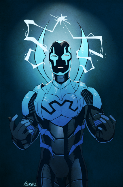nogutsnoglory:  a commission of jaime reyes/blue beetle i was excited b/c i've been wanting to draw him for a while uwu you can commission me here too
