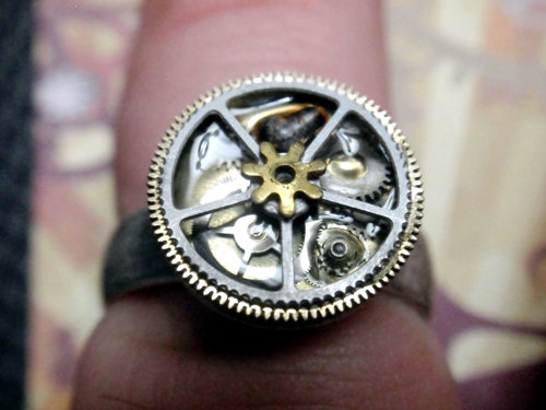 Steampunk ring by ArtifactsNRelics on etsy