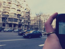This is la Pedrera, by Antoni Gaudí, in Barcelona, my city.  This photo was taken by the lovely Lina. (http://nevermind-lb7.tumblr.com/)