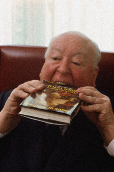 waltdisneywithblood:  Alfred Hitchcock enjoying Tom Prideaux's Love or Nothing: The Life and Times of Ellen Terry. (Via)