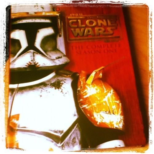 Got the first season of Star Wars: Clone Wars on DVD. Picked it up at a yard sale this morning. ;)