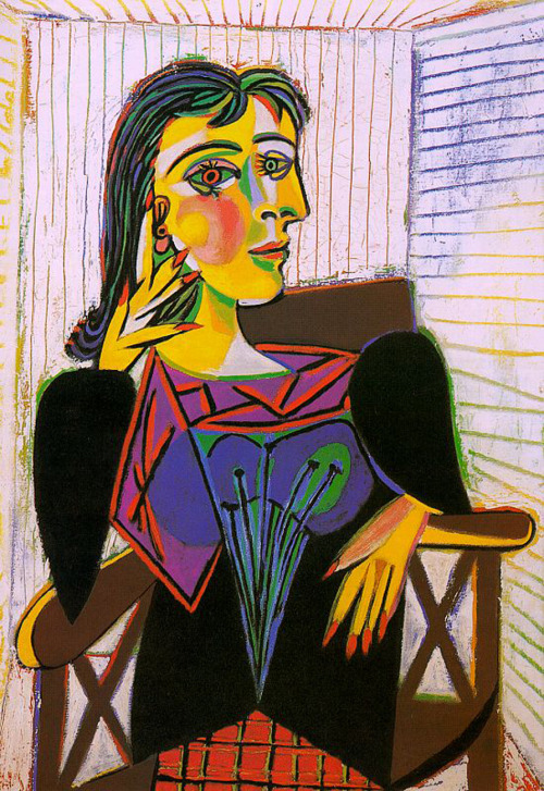 ikilledjackjohnson:  Pablo Picasso (1881–1973) Portrait of Dora MaarOil on canvas, 193792 x 65 cmMusée Picasso, Paris, France