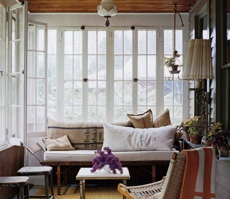 lovely indoor porch. another inspiration for my own. very easy to replicate!