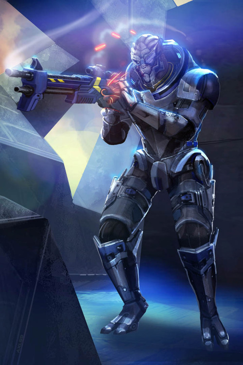 garrus-vakarian-here:  ME3 Garrus: Scoped and Dropped by ~axl99