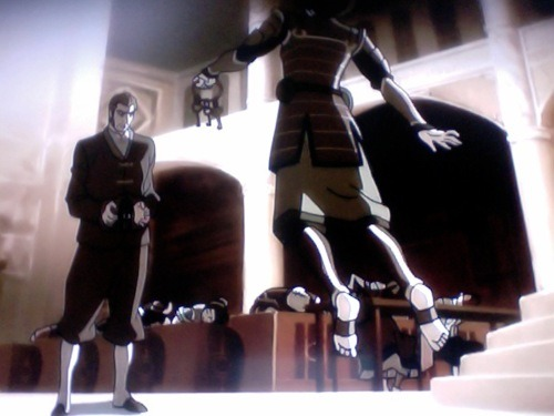 I can't even imagine how terrified Toph must have been in this scene. she has no control over her body whatsoever. she's off the ground. which means she cannot see at all. She could not do anything and has no sense of vision at all.