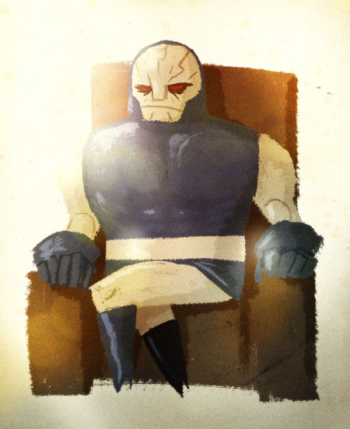 "Darkseid chilling on a couch by the awesome Sergio ""peerro"" Lantadilla. May Anti-Life be with you, Sergio! Free will is oppression!"