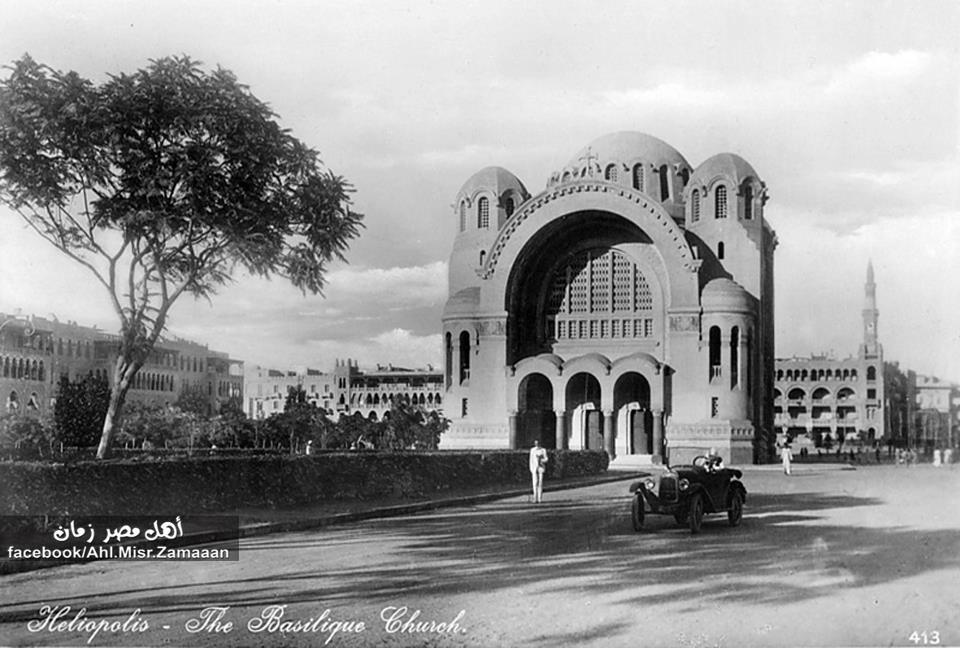The Basilique Church, 1920s.  Heliopolis, Cairo, Egypt.