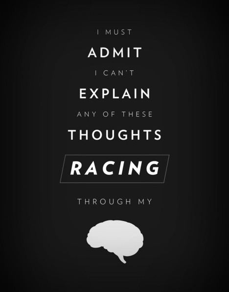theblackballerina:  Racing through my brain (by YellowNoodles)