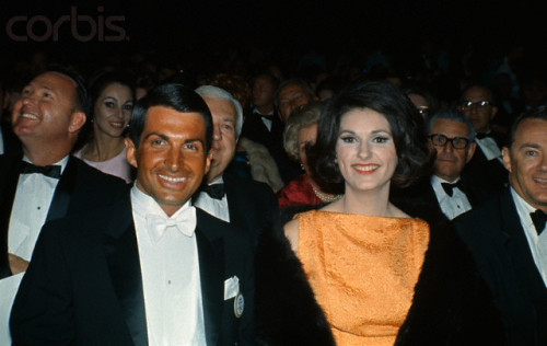 Lynda Bird Johnson & George Hamilton at the Academy Awards, 1966