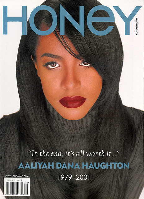 Aaliyah On The Cover Of Honey Magazine, November 2001.
