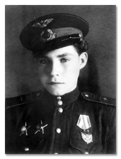 "fuckyeahhistorycrushes:  From Cracked.com:In 1942, when he was just 12 years old, Arkady Kamanin begged his dad, a commander and decorated war hero in the USSR Air Force, to  let him enlist, so Arkady's father let him join up as a mechanic.  After mastering the ins and outs of Soviet planes, Arkady got promoted to flight mechanic and navigating officer. That's the guy who's just supposed to sit in the back seat of the plane and fix anything that goes haywire, but while on a mission in 1944, Arkady's pilot was hit by a bullet. Arkady mustered up courage and, with some guidance from the crew on the ground, he landed the plane perfectly. This understandably impressed Arkady's dad, who then allowed his son to go into flight training. Two months later, Arkady became the youngest fighter pilot in World War II.    Once, while returning from a patrol flight, Arkady spotted the smoking wreck of a Soviet U-2 plane, landed his own craft while enduring heavy German fire and rescued the pilot, along with the sensitive information he was carrying. He was awarded the Order of the Red Star, the Soviet version of the Congressional Medal of Honor.  By war's end, Arkady had racked up an impressive list of commendations. He received ""two combat Orders of the Red Star, the Order of the Red Banner, the Medal for the Victory Over Germany in the Great Patriotic War 1941-1945, the Medal for the Capture of Budapest and the Medal for the Capture of Vienna."" All by age 14."