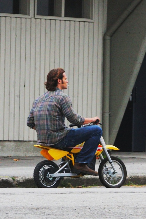 doctoreleniblack:  wonder-woman-shelly:  holdmesam:   100 Photos of Jared Padalecki | 92/100   They see me rollin', they hatin'.  Is that a lollipop?