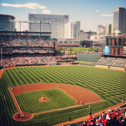 Go #phillies!!!! #camdenyards #orioles (Taken with Instagram at Oriole Park at Camden Yards)