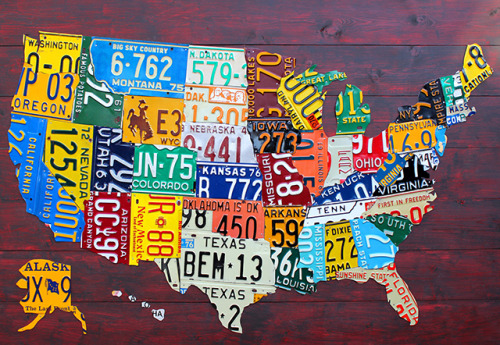 US License Plate Map by Design Turnpike