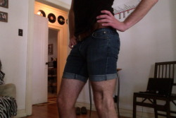 Tried making jorts, ended up with daisy dukes. YOLO.