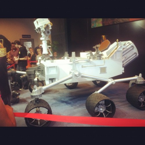 Full scale model of the Mars Exploration Rover Curiosity. (Taken with Instagram at JPL building 180)
