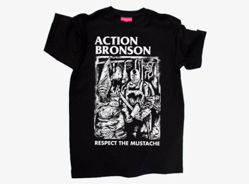 "ACTION BRONSON x MISHKA - ""Respect The Moustache Euro Tour"" T-Shirt Available here."