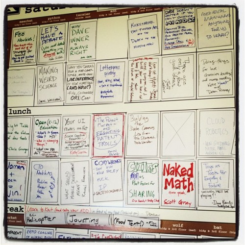 saturday's sessions at foo camp (Taken with Instagram)