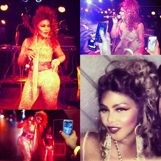 Lil Kim rocking @Laureluxe. #metal #couture #style #fashion #Laureluxe #fab #LilKim (Taken with Instagram)