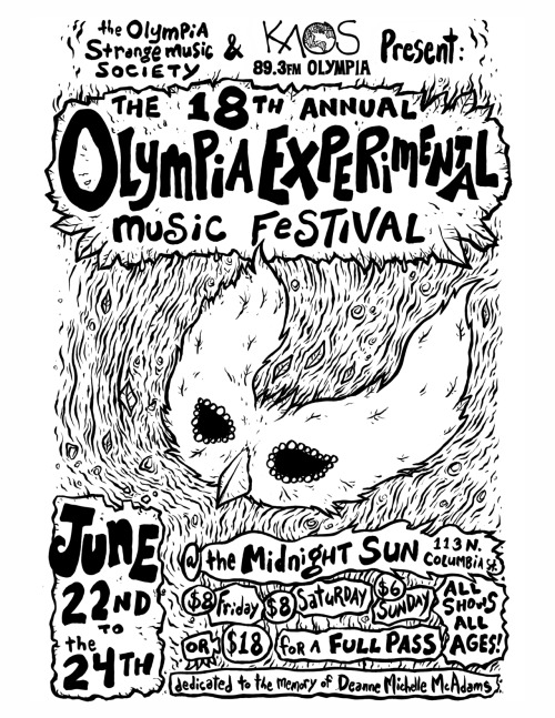 The Olympia Experimental Music Festival is coming up later this month! Weird-outs rejoice.