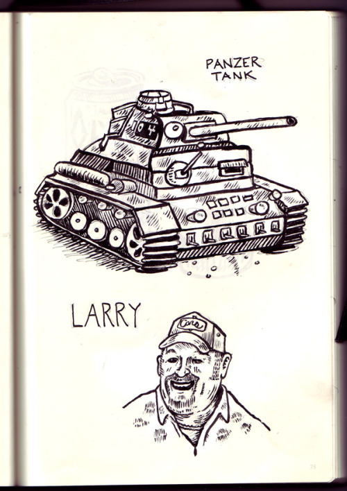 Larry and Tanks, like two peas in a pod. The classic Roast of Larry The Cable Guy airs tomorrow night at 9:30/8:30c on Comedy Central.
