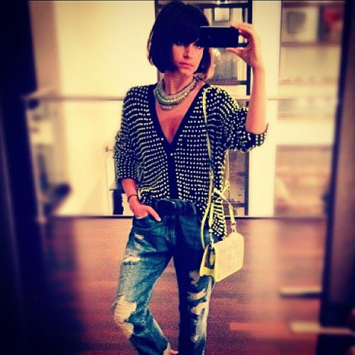 @miraduma gorgeous in her @dannijo kinsley necklace (Taken with Instagram)