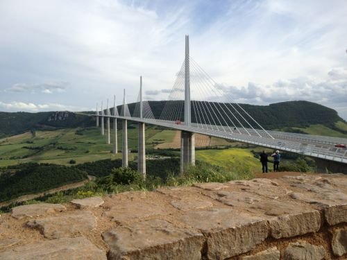 Millau Viaduct, on the way to Montpellier.   Time for some beach!