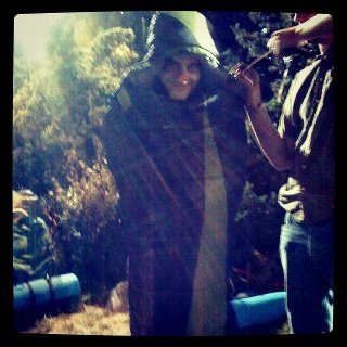 Kendall Schmidt the sleeping bag caterpillar.
