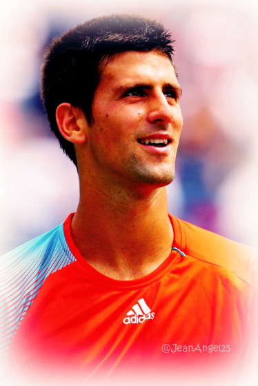 Novak Djokovic One Hundred Photos 12-100 Like an orange dream :P