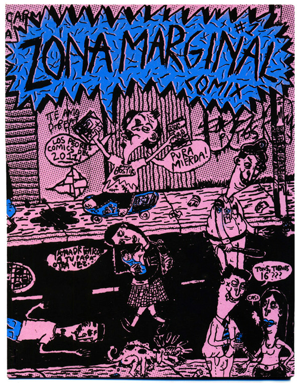 Cover of Zona Marginal #1, a zine I made with all the comics I drew during 2011, You can get it at Café con Leche in case you're interested.