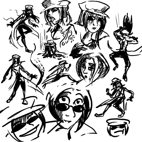 Doodles of Aly. I want to start another big piece but not sure what.
