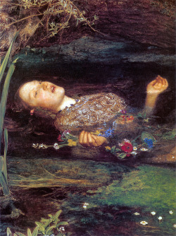 Ophelia by John Everett Millais (detail)