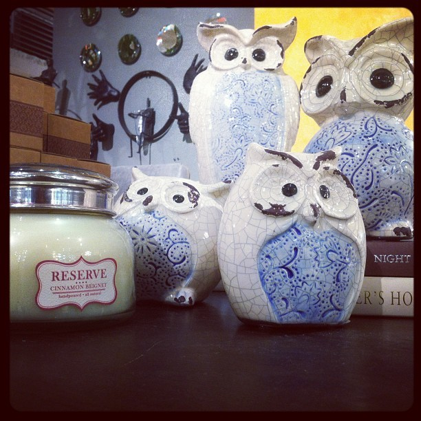 These fabulous family of owls $53.95 for a set of 4.  Item # 095318 #OwlsForLife (Taken with Instagram)