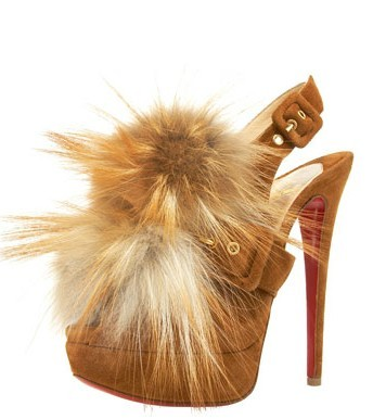Why are you doing this to me, Christian? Christian Louboutin Splash Fur Slingback $1,595