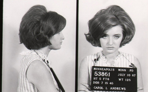 miniaturemaven:  Vintage bad girl mugshots, more here.
