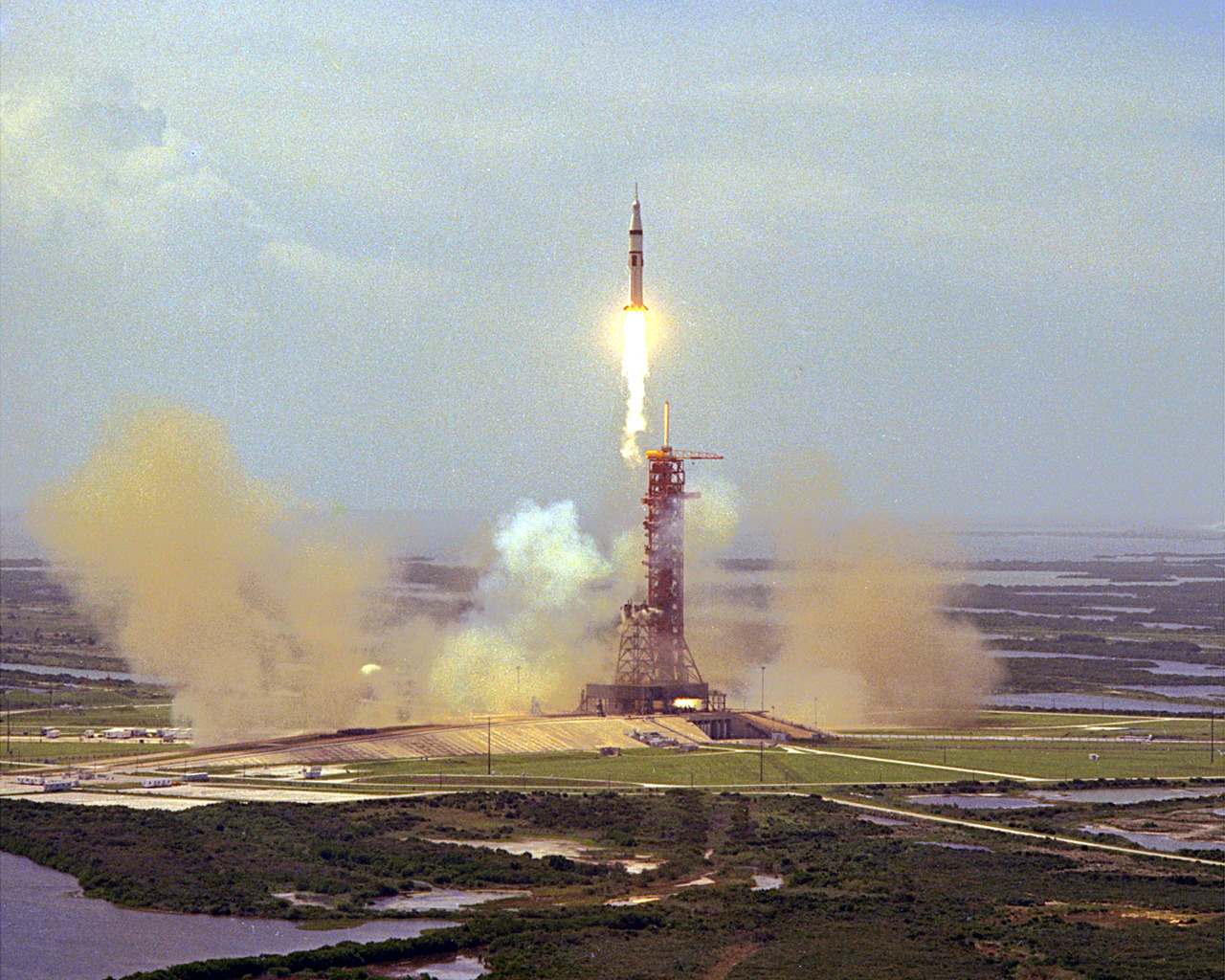 Apollo-Soyuz test project launch.