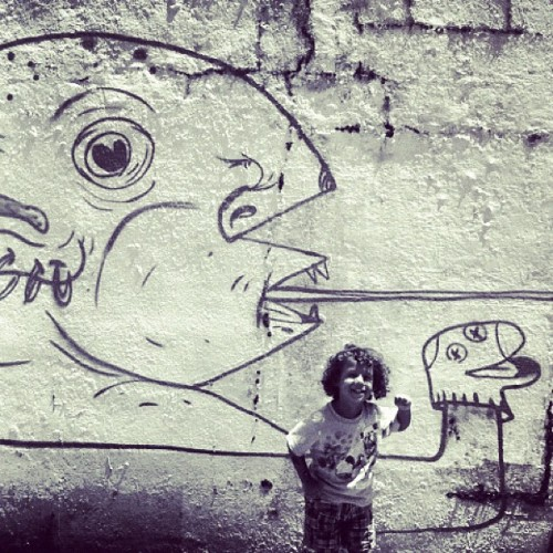 street art #puertorico #instagram #iphonegraphy #kids #curlyhair #fun #myson #memory #playing #happiness #instagram_kids #fatherandson #oldsanjuan #artist #draw #painting #wall #sketch #streetart #graffiti  (Taken with Instagram at El Viejo San Juan)