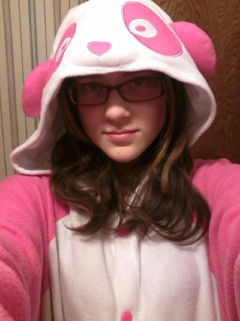 kigurumi-shop:  My eldest child, the Pink Panda.  (I can't make fun of her at all: I own the Purple Panda. Back off, man, DON'T JUDGE ME!)  OHMIGAWSH <3 This is me and I totally didn't know my mom posted me here ;u; <3