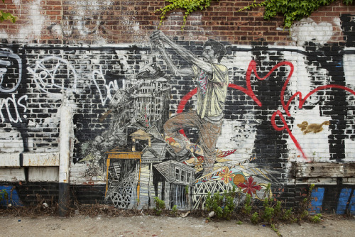 jakedobkin:  IMG_3715 on Flickr. Nice new Swoon in Bushwick, Brooklyn.