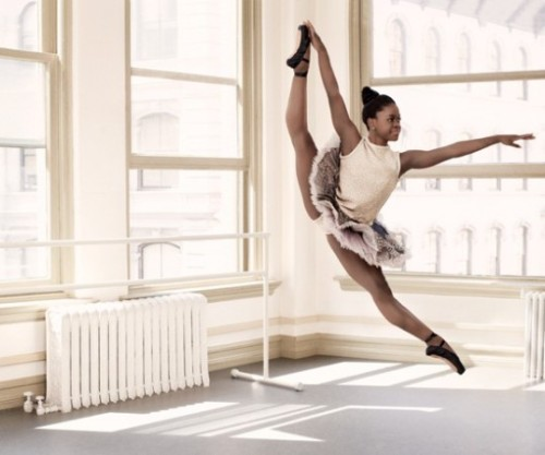 "tballardbrown:  Michaela Deprince does not look like the ""typical"" 17-year-old ballet dancer. At 5'4″, she is shorter and more muscular than most ballet dancers. She is also from Sierra Leone and all three of these are noted ""problems"" (with the admitted race and body type issues in ballet) for someone who just wants to dance. But that isn't stopping her at all. (via How This Orphan From Sierra Leone Became A Famous Ballerina 