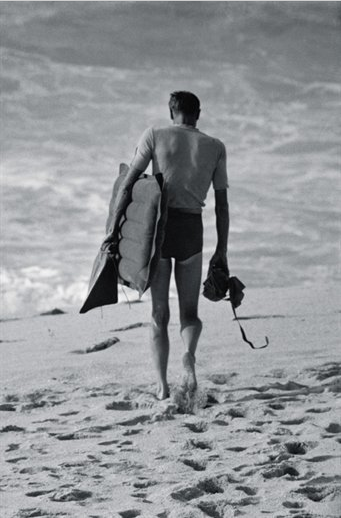 Ron Church Bud Browne, Waimea Bay, Haieiwa, Hawaii, October 1962 via Nowness