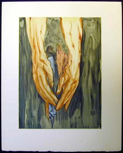 "Salvador Dalí's 100 Illustrations of Dante's The Divine Comedy  / Inferno: Canto 31  The Hands of Antaeus In 1957, the Italian government commissioned Dalí to paint a series of 100 watercolor illustrations of Danté's Divine Comedy. Dalí was Spanish and not Italian, which enraged the Italian people to such an extent they demanded the project be stopped. To which Dalí said ""go to hell"" and finished the watercolors anyways."