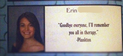 Possibly the greatest yearbook quote I've ever seen.