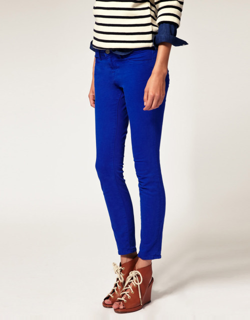 J Brand 811 Mid Rise Ankle Skinny Jean in Bright Royal Blue TwillMore photos & another fashion brands: bit.ly/JgQ6Vw