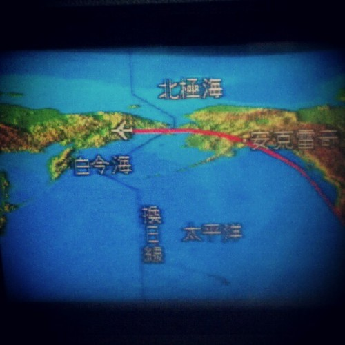 Flew over Siberia to get to China (Taken with Instagram)