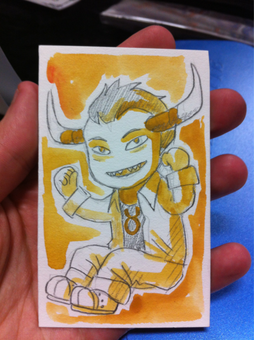 BEST SKETCHCARD. Tav is so precious.