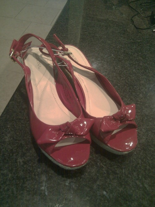 Just bought cute wedges!